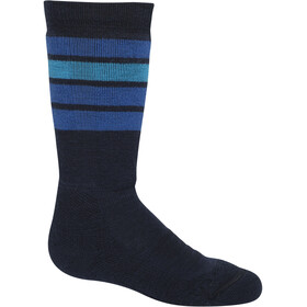 Icebreaker Ski Medium OTC Socks with Stripes Kids midnight navy